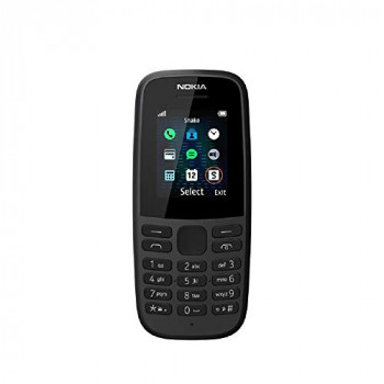 Nokia 105 (2019 edition) 1.77-Inch UK SIM Free Feature Phone (Single SIM) - Black