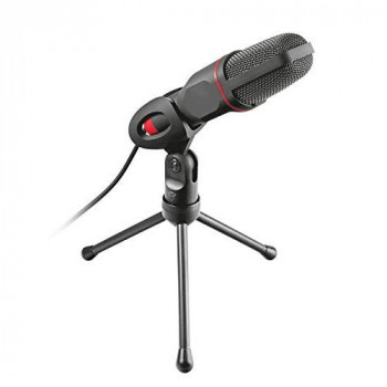 Trust Gaming GXT 212 Mico USB Microphone on Tripod (Mic with 3.5mm and USB connections, 1.80m cable, for Streaming, Twitch and Youtube) Black