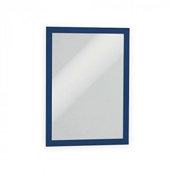 Durable DURAFRAME Self-Adhesive Magnetic Display Frame, A4 Size - Blue, Pack of 2