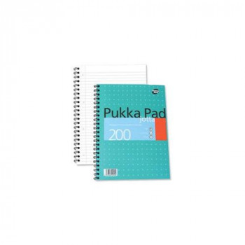 Pukka Pads A4 Metallic Jotta Wirebound Notebook (Pack of 3)
