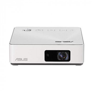 ASUS S2 White USB-C Portable LED Projector 720P (1280x720) 500 Lumens Built-In 6000mah Battery Keystone Adjustment Auto Focus Wireless Proje