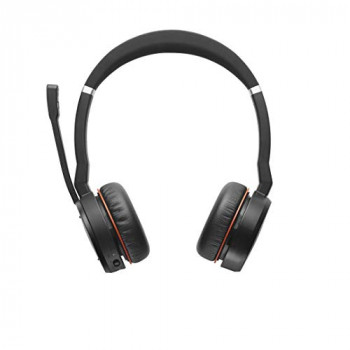 Jabra Evolve 75 Wireless Bluetooth stereo headset with charging stand- optimised for unified communications