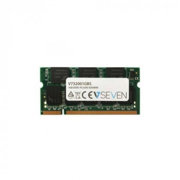 V7 V732001GBS Notebook DDR1 SO-DIMM Memory Module 1GB (400MHZ, CL3, PC3200, 200 polig, 2.6 Volt)
