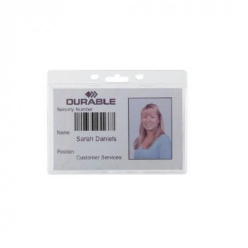 Durable 999108012 Enclosed Proximity Card Holder without Clip (Pack of 50)