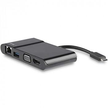 StarTech.com USB C Multiport Adapter - USB Type C to 4K HDMI / USB 3.0 / VGA / Gigabit Ethernet - USB C Hub - USB-C Adapter