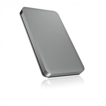 ICY BOX USB 3.0 Hard Drive HDD SSD Enclosure with Built-in Cable Aluminium Grey
