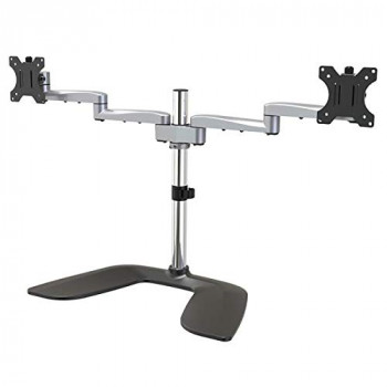 StarTech.com ARMDUALSS Dual Monitor Stand, Articulating Arms, Height Adjustable, for VESA Mount Monitors up to 32 Inch, Steel and Aluminium