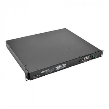 Tripp Lite 2–2.4kW Single-Phase ATS/Switched PDU 200–240V Outlets (10 C13) 2 C14 Inlets 3.6m Cords 1U Rack-Mount TAA