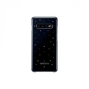 Samsung Original Galaxy S10+ Protective LED Light Show Back Cover Case - Black