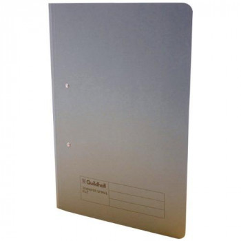 Guildhall 285 gsm Foolscap Spiral File - Grey (Pack of 25)