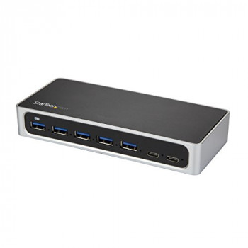 StarTech.com USB C Hub - 7 Port - USB-C to 5x USB-A and 2x USB-C - Charging Station - Powered USB Hub - USB Port Hub - USB Type C Hub