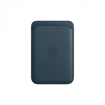Apple Leather Wallet with MagSafe (for iPhone) - Baltic Blue