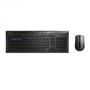 Rapoo 8200M Multi-mode Wireless Desktop Combo Set Black