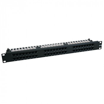 Cat6 1U Patch Panel 568B - 110 Punchdown to RJ45 Female - 48 Port