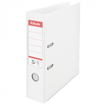 Esselte No. 1 Power A4 Lever Arch File with 75 mm Spine - White, Pack of 10