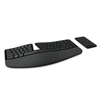 Microsoft Sculpt Ergonomic Keyboard and Numeric Pad, UK Layout (Business Packaging) - Monotone