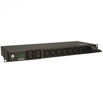 Tripp Lite Metered 3.2-3.8kW Power Distribution Unit PDU 16/20A, 10 C13/C19 Outlets, 1U Horizontal Rack-Mount, 200-240V (PDUMH20HV)