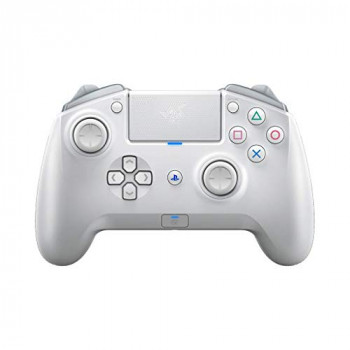Razer Raiju Tournament Edition (2019) - Wireless and Wired Gaming Controller for PS4 + PC (Wired and Wireless Bluetooth Controller, Mecha-Tactile Action Keys) Mercury / White
