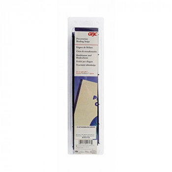 GBC VeloBind Binding Strips, 45 mm, 200 Pages, A4, Blue, Pack of 25, 9741636