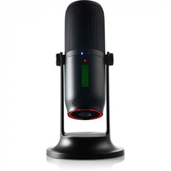 Thronmax MDRILL ONE (M2) - USB Condenser Microphone for Podcasts/Streaming/Calls/Gaming/YouTube - Jet Black