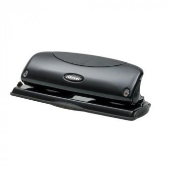 Rexel Precision P425 4 Hole Punch Black 25 Sheet Capacity and Paper Alignment Indicator