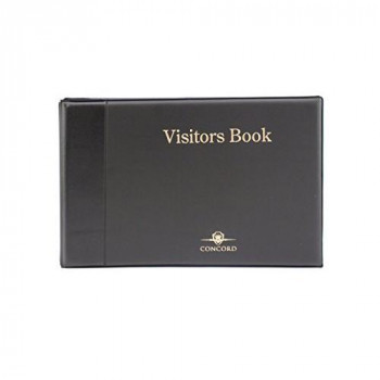 Concord CD14 Visitors Book Binder with 50 Sheets 2000 Entries 230x335mm - Ref 85710