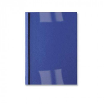 GBC LeatherGrain Thermal Binding Covers, 4 mm, 40 Sheet Capacity, A4, Royal Blue, Pack of 100, IB451027