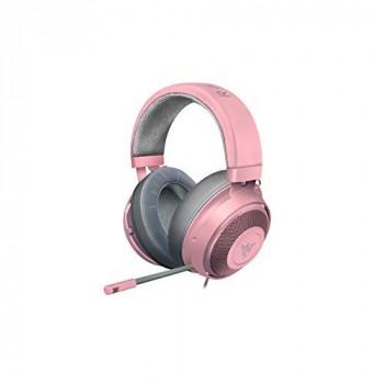 Razer RZAUKR05RT Kraken Gaming Headset with Cooling Gel Earpads for Ambitious Gamers - Pink (Quartz)