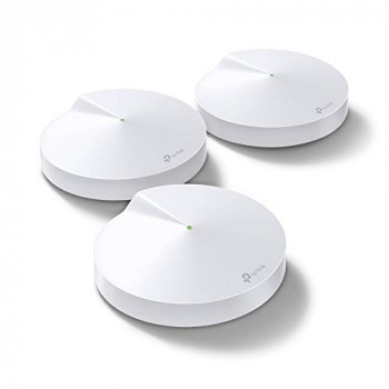 TP-LINK Deco M9 Plus Whole Home Mesh Wi-Fi with Built-In Smart Home HUB, Up To 6500 Sq ft coverage, Works with Amazon Echo/Alexa, Wi-Fi Booster, Antivirus and Parental Controls, Pack of 3