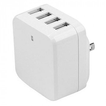 StarTech.com USB4PACWH 4 Port USB Wall Charger - White