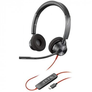 Plantronics Headset with Connector and Flexible Microphone Arm - Black
