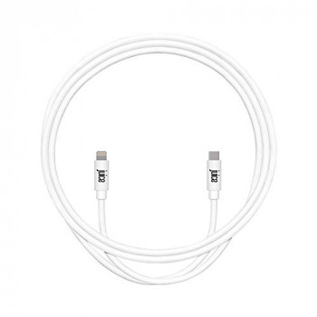 Juice Apple iPhone 11, Pro, iPhone X, Xr, iPhone 8, 7, 6, SE, iPad Lightning and USB Type C Charge and Sync Cable, 1M, White