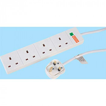 TruPower 1 Pack RB-05M04SPD 4 Way Trailing Socket 5m Lead Surge Protected