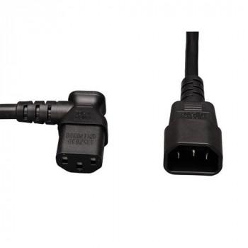 Tripp Lite P004-002-13LA - AC Power Extension Cable - C13 Left Angle to C14 - 2'