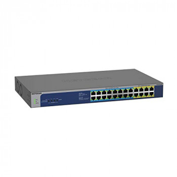NETGEAR 24-Port Gigabit Ethernet Unmanaged PoE Switch (GS524UP) - with 8 x PoE+ and 16 x PoE++ @ 480W, Desktop/Rackmount, and ProSAFE Lifetime Protection