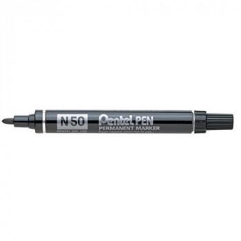 Pentel N50 Permanent Marker Bullet Tip 1.5-2mm Line Black Ref N50-A [Pack of 12]
