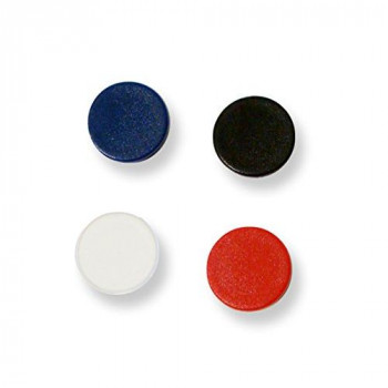 Bi-Silque 30 mm Round Magnet - Assorted Colours (Pack of 10),IM130909