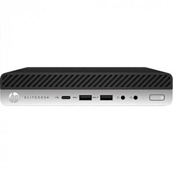 HP EliteDesk 705 G5 - Mini desktop - Ryzen 5 Pro 3400G / 3.7 GHz - RAM 8 GB - SSD 256 GB - NVMe - Radeon Vega 11 - GigE - Win 10 Pro 64-bit - monitor: none - keyboard: UK