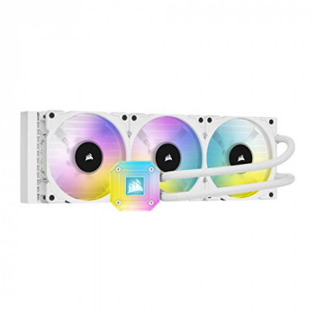 Corsair iCUE H150i ELITE CAPELLIX Liquid CPU Cooler (High-Performance Pump Head, 33 Ultra-Bright RGB LEDs, Three 120 mm CORSAIR ML RGB Series PWM Fans, Corsair iCUE Commander CORE Included) - White