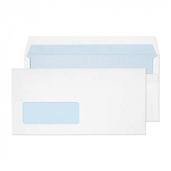 Blake Purely Everyday DL 110 x 220 mm 85gsm Self Seal Window Wallet Envelopes (FL3884) White - Pack of 1000