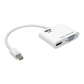 Tripp Lite Keyspan Mini DisplayPort to VGA/HDMI Cable Adapter, All-in-One, MDP 1.2, MDP to VGA/HDMI, 4K x 2K HDMI (P137-06N-HV-V2W)
