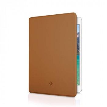 "Twelve South SurfacePad for iPad Mini 5"" | Ultra-slim napa leather cover + display stand with sleep/wake (cognac)"