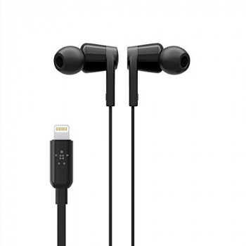 Belkin SoundForm iPhone Headphones with Lightning Connector (Lightning Earphones for iPhone 11, 11 Pro, 11 Pro Max, XS Max, XS, X, SE, 8 Plus, 8, 7 Plus, 7), Black