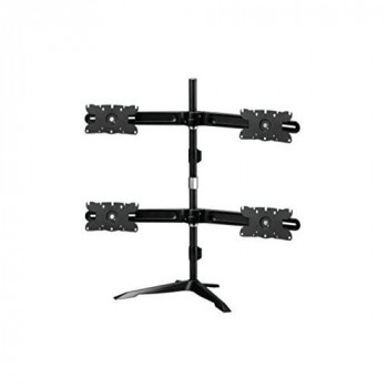 Amer Mounts AMR4S32: Large Quad Monitor Mount - Desk Stand - Displays up to 4/Four 32 inch Screens