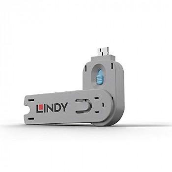 LINDY USB Type A Port Blocker Key, Blue