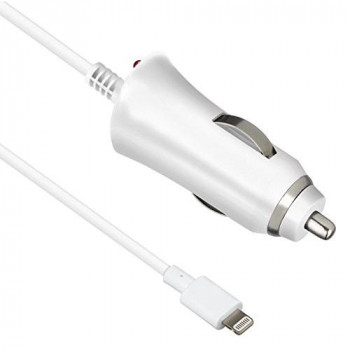 Kit MFI Apple Approved 2.1 Amp Lightning In-Car Charger iPhone iPod Touch,White