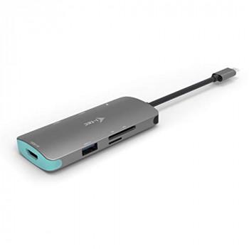 I-Tec USB-C Metal Nano Dock [4K HDMI LAN + Power Delivery 60 W]