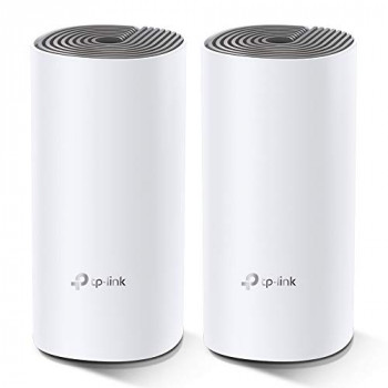TP-Link Deco E4 Whole Home Mesh Wi-Fi System, Seamless and Speedy (AC1200) for Medium Home, Work with Amazon Echo/Alexa and IFTTT, Router and WiFi Booster Replacement, Parent Control, Pack of 2