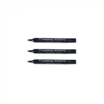 Edding 2000C Permanent Marker Bullet Tip 1.5-3mm Line Black Ref 2000C-001 [Pack of 10]