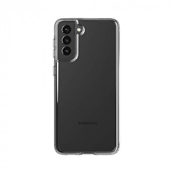 tech21 EvoClear for Samsung S21 Ultra 5G - Germ Fighting Antimicrobial Phone Case with 12 ft. Drop Protection
